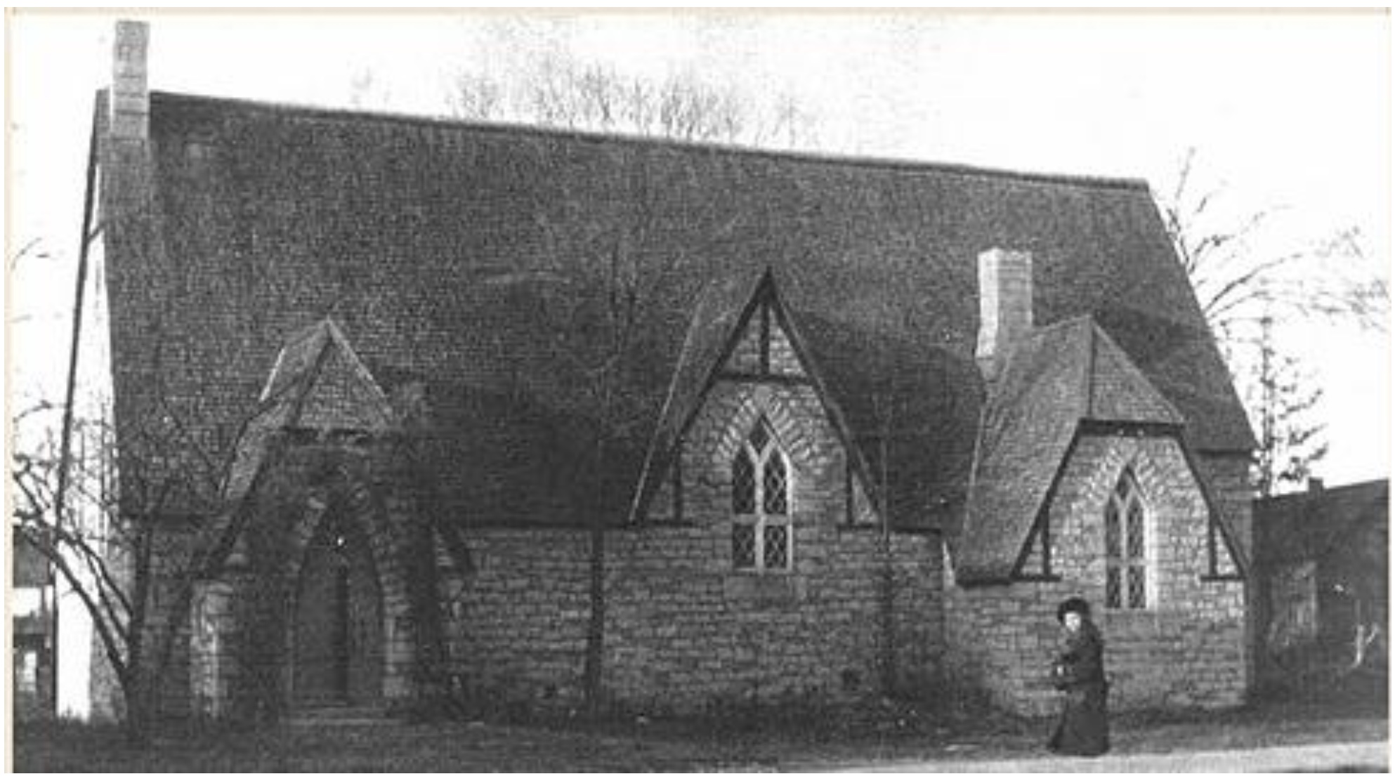Rendering of All Saints' Church by Thomas Fuller, circa 1865