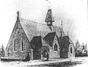 A rendering of All Saints' Church by Thomas Fuller, circa 1865