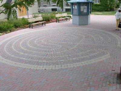 Labyrinth Walk in the Courtyard