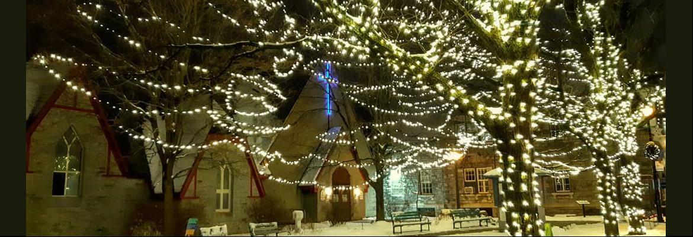 All Saints' Westboro courtyard Christmas 2020