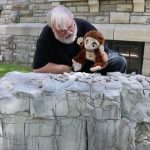 The puppets look at the upsetting story of finding the graves of children and introduce the messages on little stones placed on Grandmother Rock in our Healing Garden.